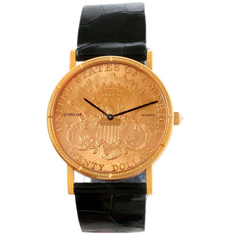 bd637a838afb3 ... 10444 Corum 20 Dollars Double Eagle Yellow Gold Coin Watch Year 1998  SwissWatchExpo ...