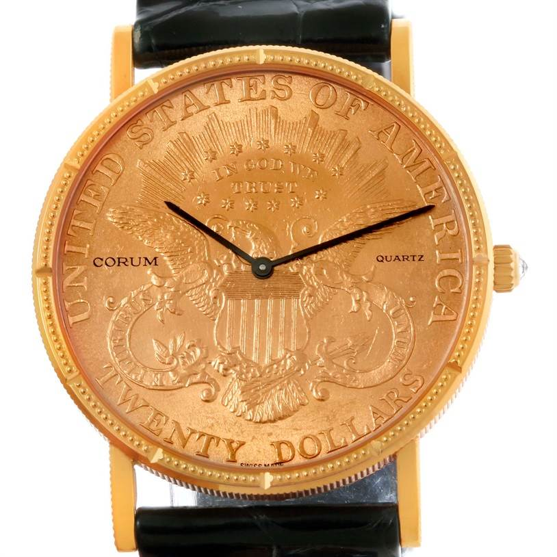 0a07c63e58c11 ... 10444 Corum 20 Dollars Double Eagle Yellow Gold Coin Watch Year 1998  SwissWatchExpo ...