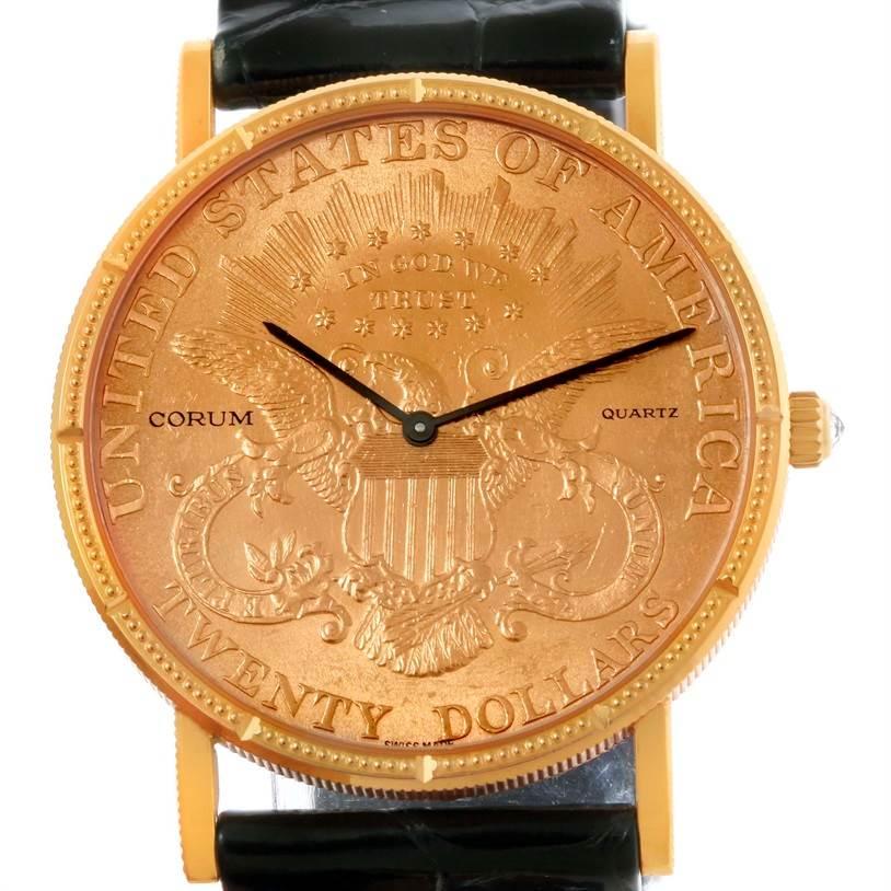 b3c5646701cf ... 10444 Corum 20 Dollars Double Eagle Yellow Gold Coin Watch Year 1998  SwissWatchExpo ...