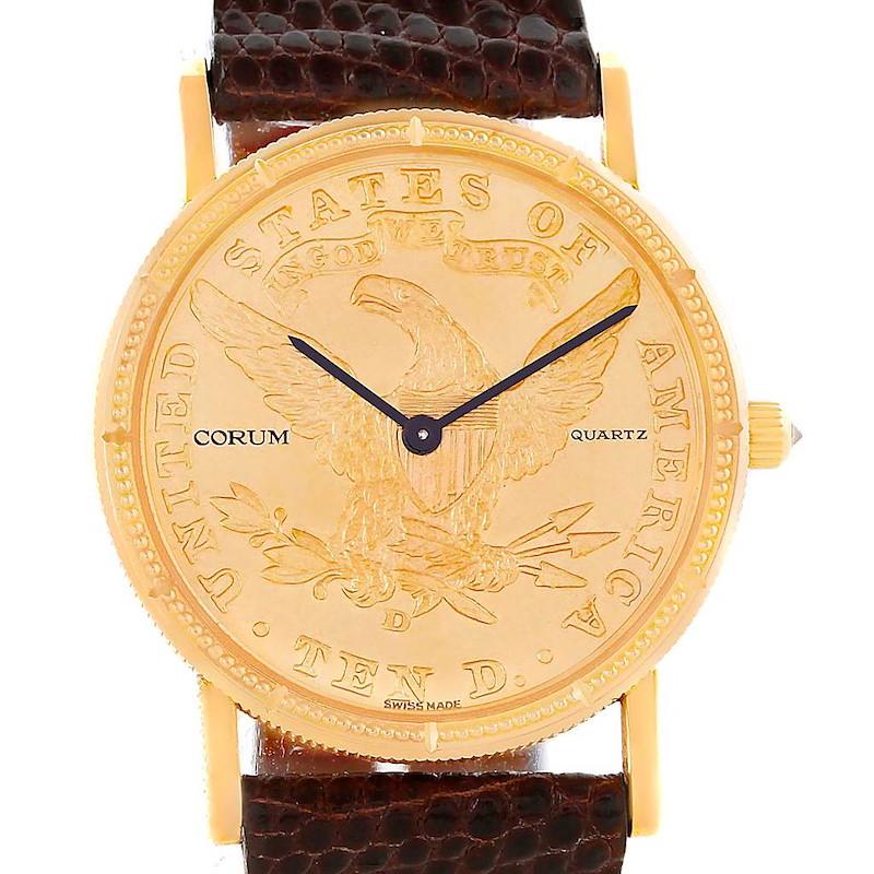 Corum 18K Yellow Gold 10 Dollars Coin Diamond Ladies Watch SwissWatchExpo