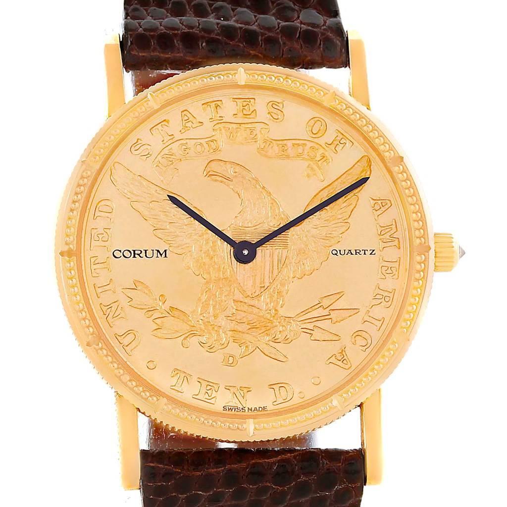 Photo of Corum 18K Yellow Gold 10 Dollars Coin Diamond Ladies Watch
