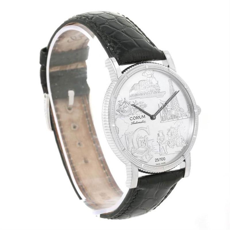 Corum Celebrates Second Millennium 18K White Gold Automatic LTD Watch SwissWatchExpo
