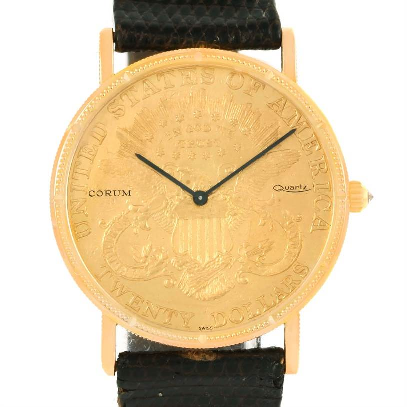 Photo of Corum 20 Dollars Double Eagle Yellow Gold Coin Year 1906 Watch
