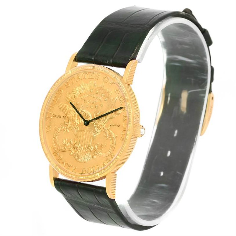 Corum 20 Dollars Double Eagle Yellow Gold Coin Year 1904 Watch SwissWatchExpo