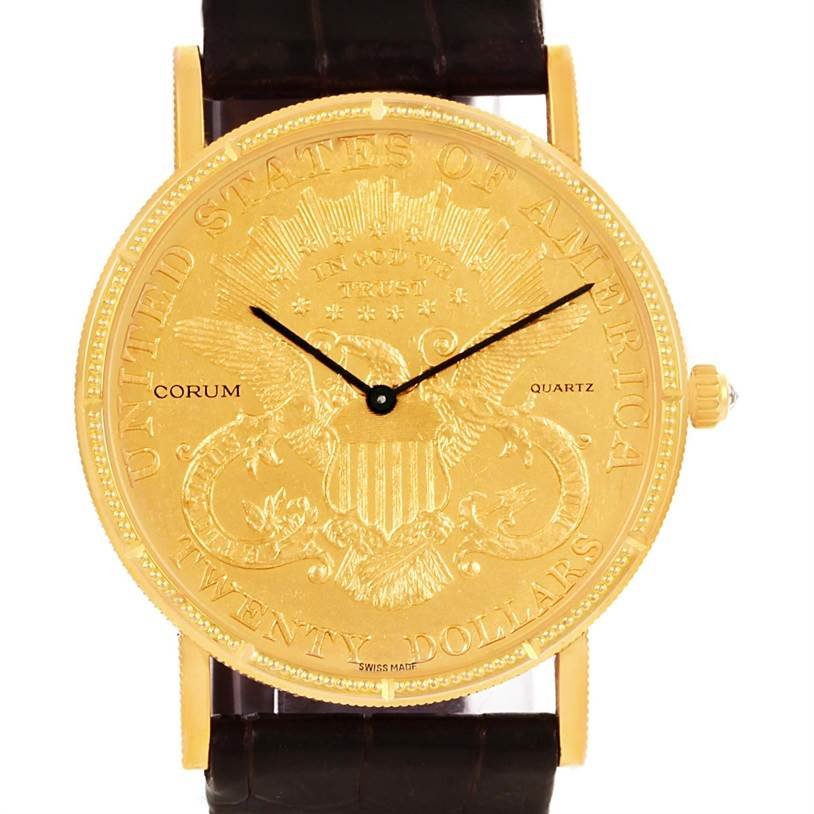 Photo of Corum 20 Dollars Double Eagle Yellow Gold Coin Year 1904 Watch