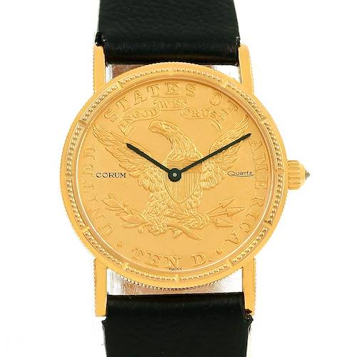 Photo of Corum 18K Yellow Gold 10 Dollars Coin  Ladies Watch Box Papers