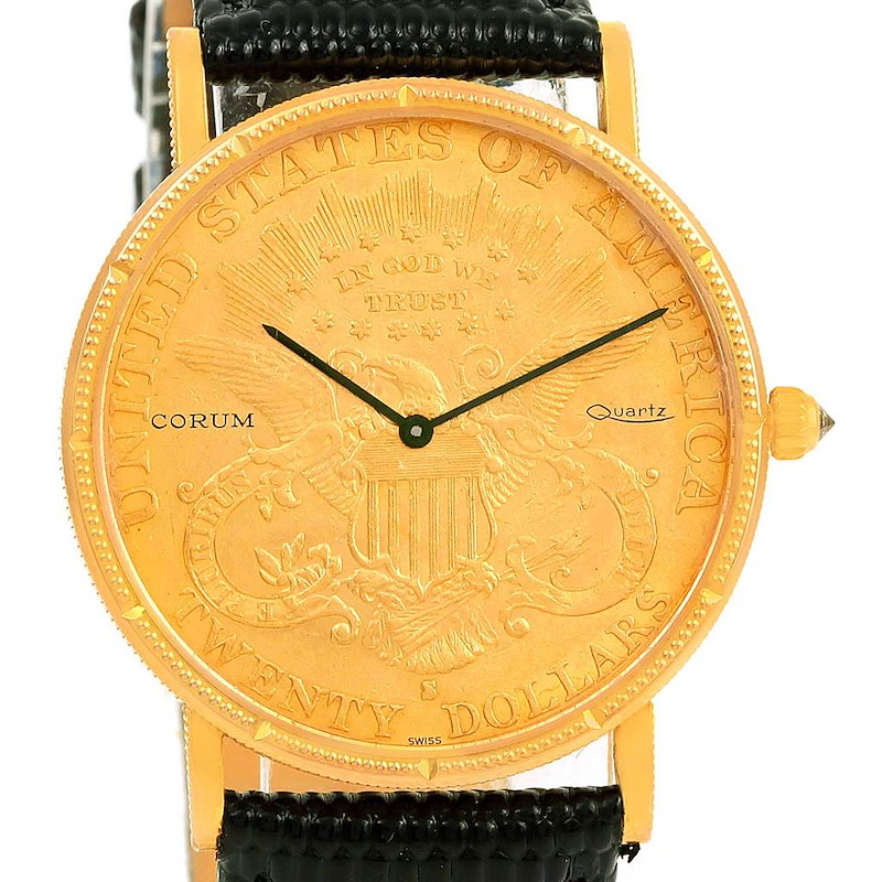 Corum 20 Dollars Double Eagle Yellow Gold Coin Year 1895 Watch SwissWatchExpo