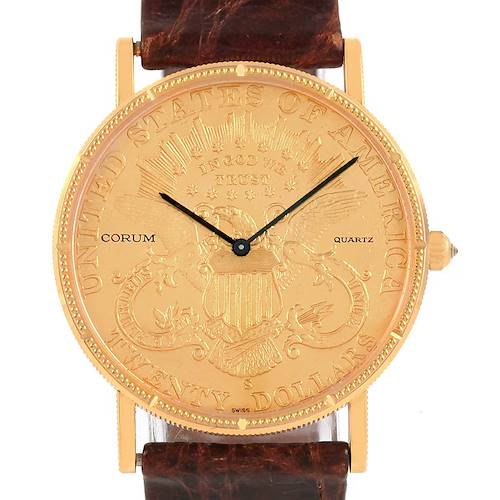 Photo of Corum 20 Dollars Double Eagle Yellow Gold Coin Year 1899 Watch