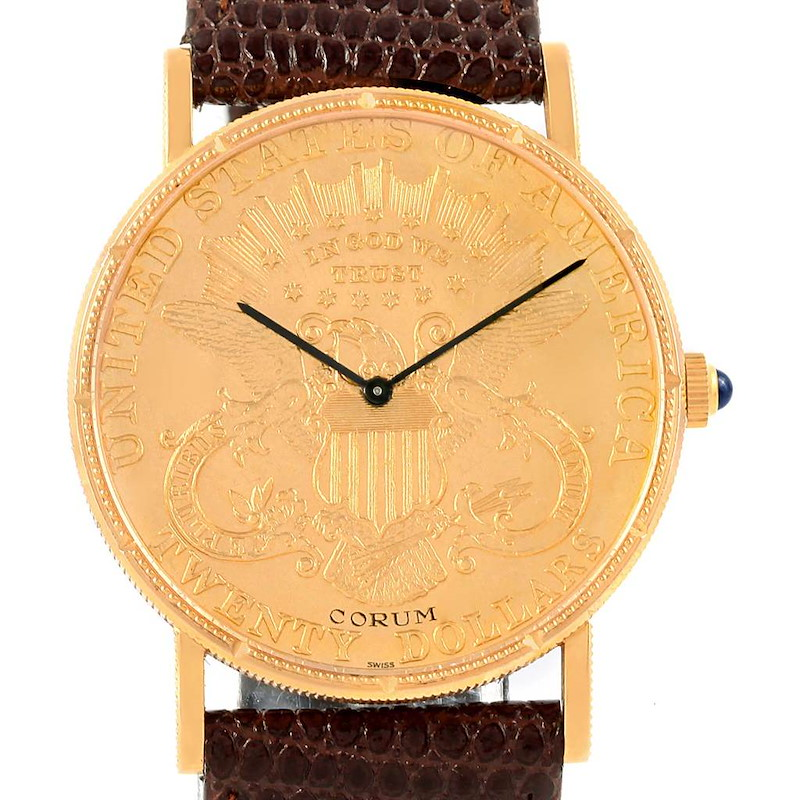 Corum 20 Dollars Double Eagle Yellow Gold Coin Year 1900 Mechanical Watch SwissWatchExpo