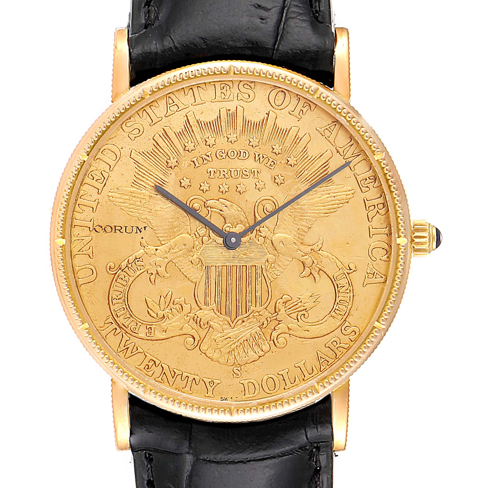 Corum 20 Dollars Double Eagle Yellow Gold Coin Year 1899 Watch SwissWatchExpo
