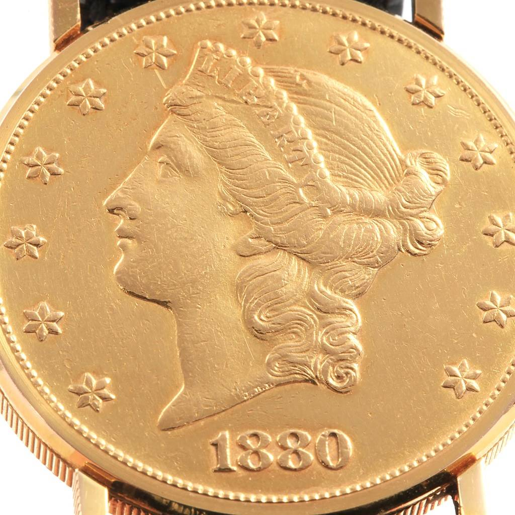 19118 Corum 20 Dollars Double Eagle Yellow Gold Coin Year 1880 Watch SwissWatchExpo