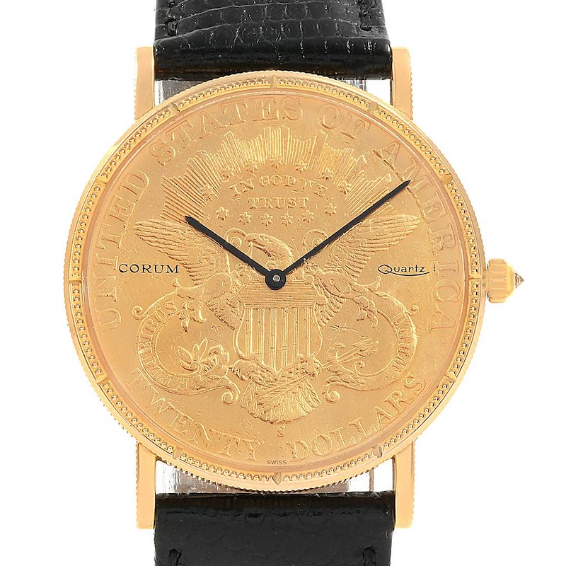 Corum 20 Dollars Double Eagle Yellow Gold Coin Year 1880 Watch SwissWatchExpo