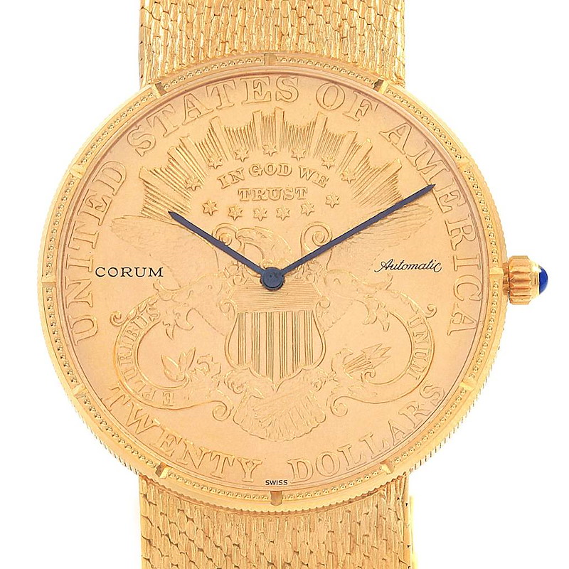 Corum 20 Dollars Double Eagle Yellow Gold Coin Year 1895 Automatic Watch SwissWatchExpo