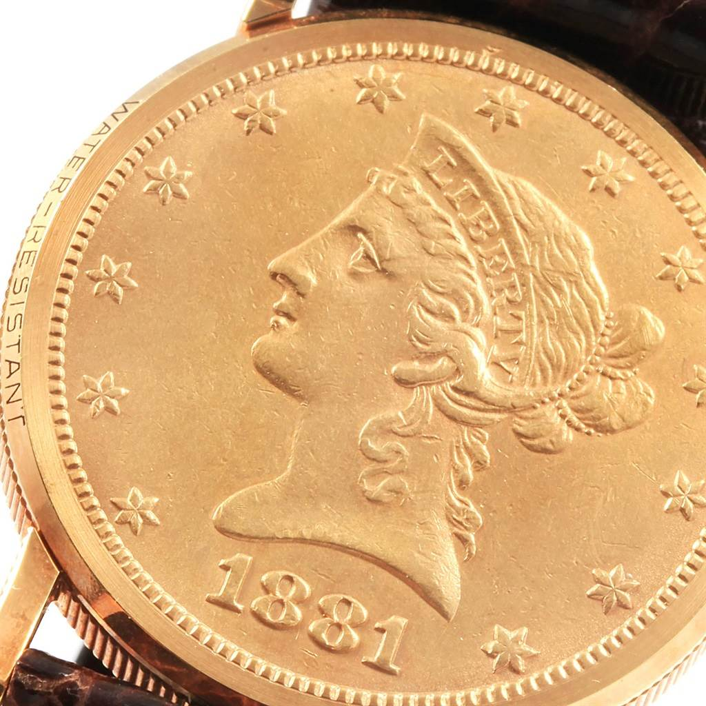 20145 Corum Yellow Gold 10 Dollars Coin Diamond Ladies Watch Year 1881 SwissWatchExpo