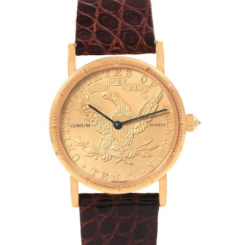 Corum Yellow Gold 10 Dollars Coin Diamond Ladies Watch Year 1881