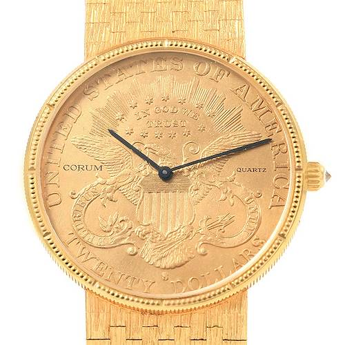 Photo of Corum 20 Dollars Double Eagle Yellow Gold Coin Year 1904 Mens Watch