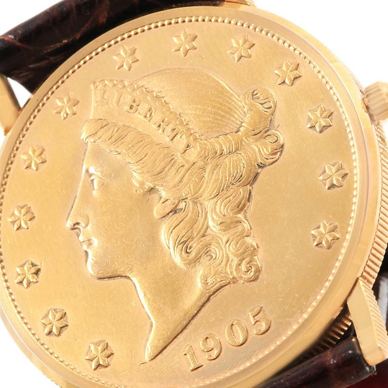 Corum 20 Dollars Double Eagle Yellow Gold Coin Year 1905 Mens Watch SwissWatchExpo