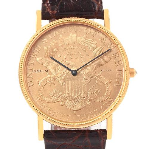 Photo of Corum 20 Dollars Double Eagle Yellow Gold Coin Year 1905 Mens Watch