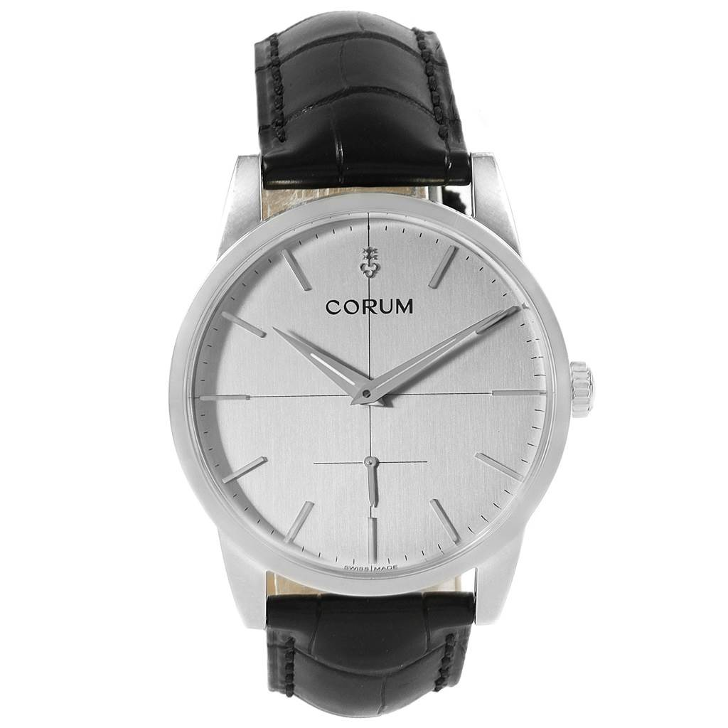 20702X Corum Heritage 38mm Silver Dial Steel Mens Watch V157/02614 Unworn SwissWatchExpo