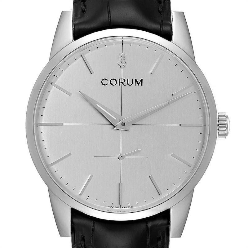 Corum Heritage 38mm Silver Dial Steel Mens Watch V157/02614 Unworn SwissWatchExpo