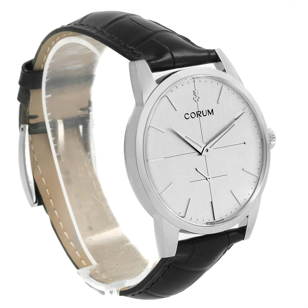Corum Heritage 38mm Silver Dial Steel Mens Watch V157/02614 Unworn SwissWatchExpo