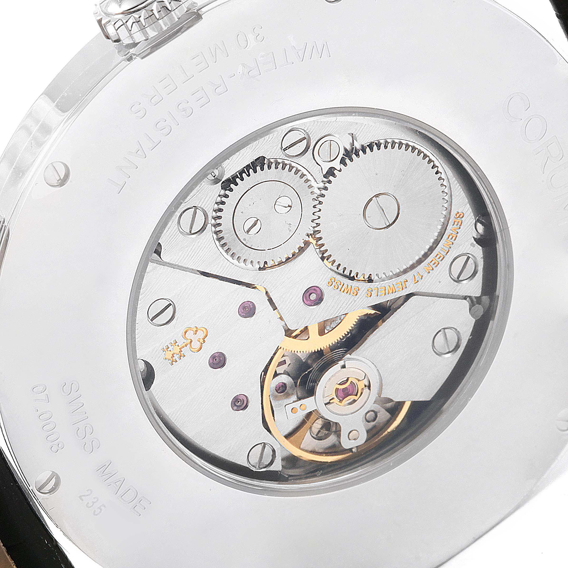 Corum Heritage 38mm Silver Dial Steel Mens Watch V157/02614 SwissWatchExpo
