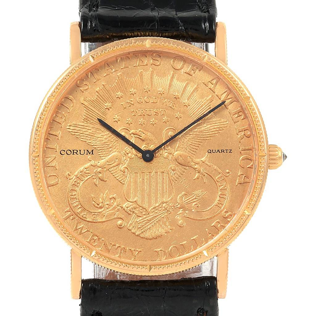 20951 Corum 20 Dollars Double Eagle Yellow Gold Coin Year 1897 Mens Watch SwissWatchExpo