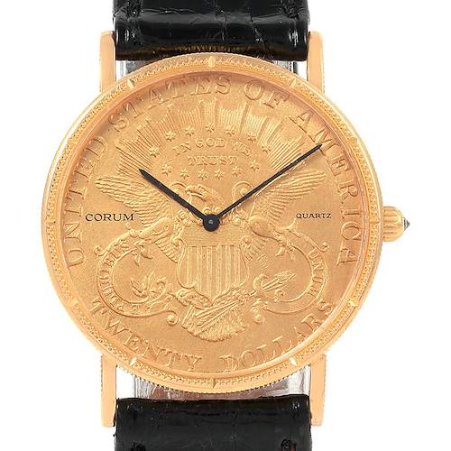 Photo of Corum 20 Dollars Double Eagle Yellow Gold Coin Year 1897 Mens Watch