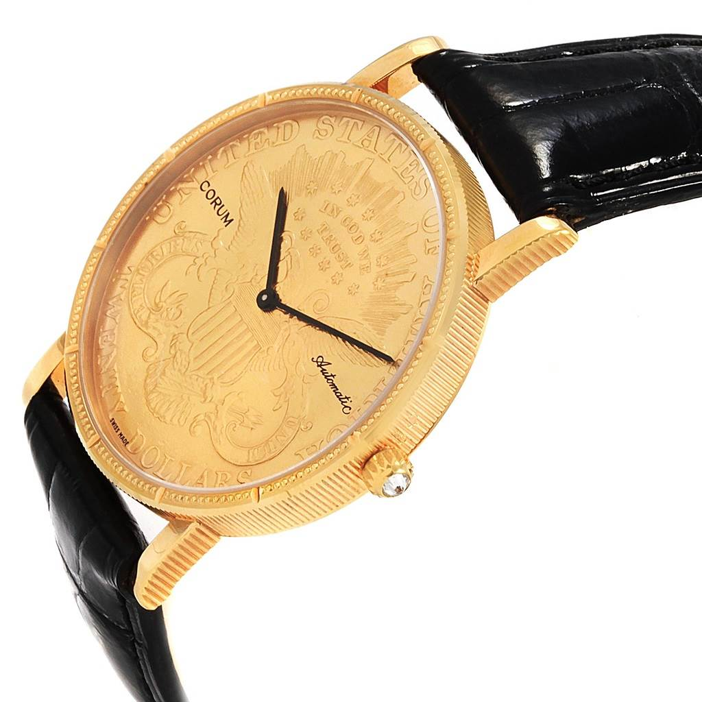 21183 Corum 20 Dollars Double Eagle Yellow Gold Coin Automatic Mens Watch SwissWatchExpo