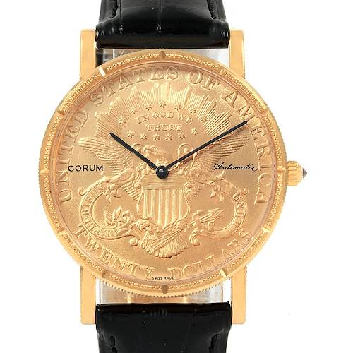 Photo of Corum 20 Dollars Double Eagle Yellow Gold Coin Automatic Mens Watch
