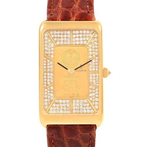 Photo of Corum 18K Yellow Gold Diamond 5 Gram Ingot 999.9 Watch