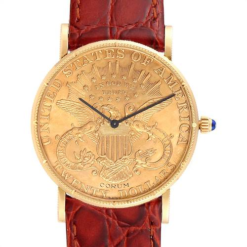 Photo of Corum 20 Dollars Double Eagle Yellow Gold Coin Mechanical Mens Watch