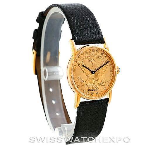 Vintage Corum Ladies 18K Yellow Gold 10 Dollars Coin Watch SwissWatchExpo