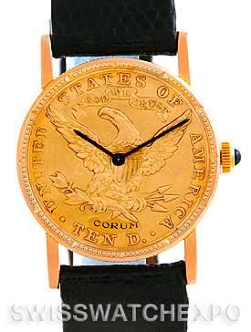 Photo of Vintage Corum Ladies 18K Yellow Gold 10 Dollars Coin Watch