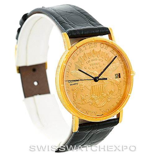 Corum 18/22K Yellow Gold 20 Double Eagle Coin Mens Watch SwissWatchExpo