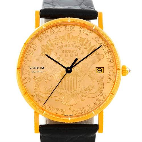 Photo of Corum 18/22K Yellow Gold 20 Double Eagle Coin Mens Watch