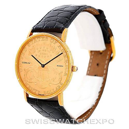 Corum 18/22K Yellow Gold 20 Double Eagle Coin Vintage Mens Watch SwissWatchExpo