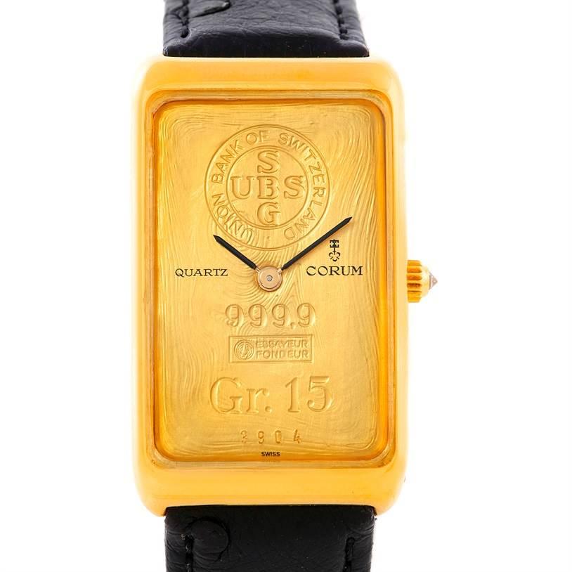 Photo of Corum Vintage 18K Yellow Gold 15 Gram Ingot 999.9 Watch
