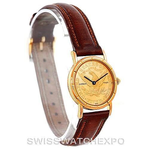 Corum Vintage Ladies 18K Yellow Gold 5 Dollars Coin Watch SwissWatchExpo