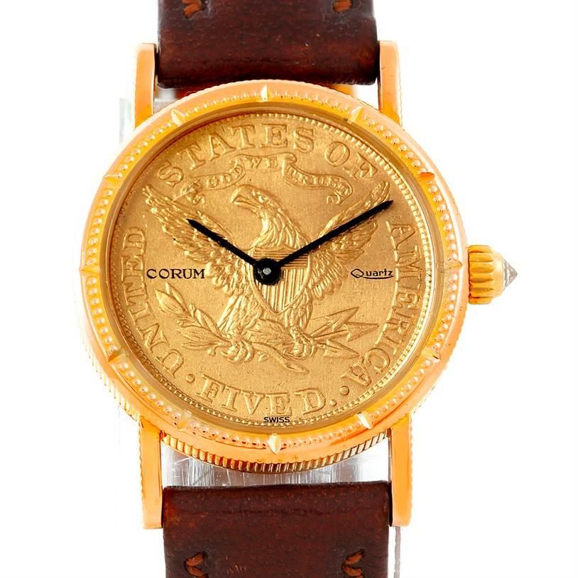 Photo of Corum Vintage Ladies 18K Yellow Gold 5 Dollars Coin Watch
