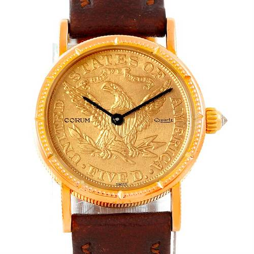 Photo of Corum Vintage Ladies 18K Yellow Gold 5 Dollars Coin Watch