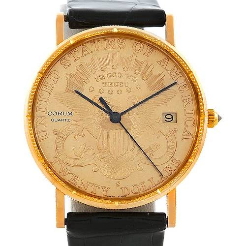 Photo of Corum Mens 18K Yellow Gold 20 Dollars Coin Watch