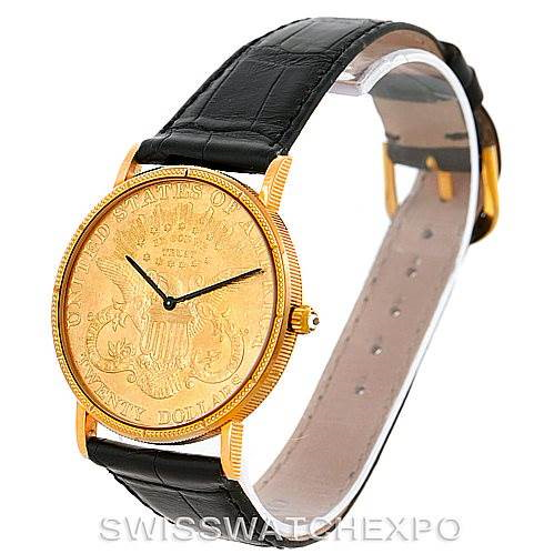 Corum Vintage Mens 18/22K Yellow Gold 20 Dollars Coin Watch SwissWatchExpo