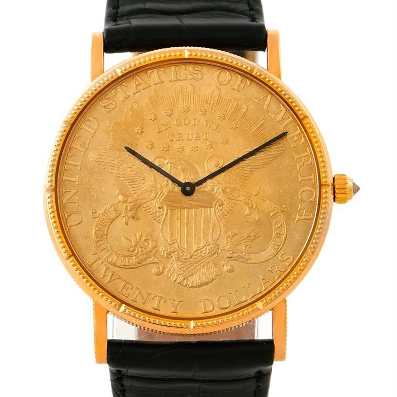 corum vintage mens 18 22k yellow gold 20 dollars coin