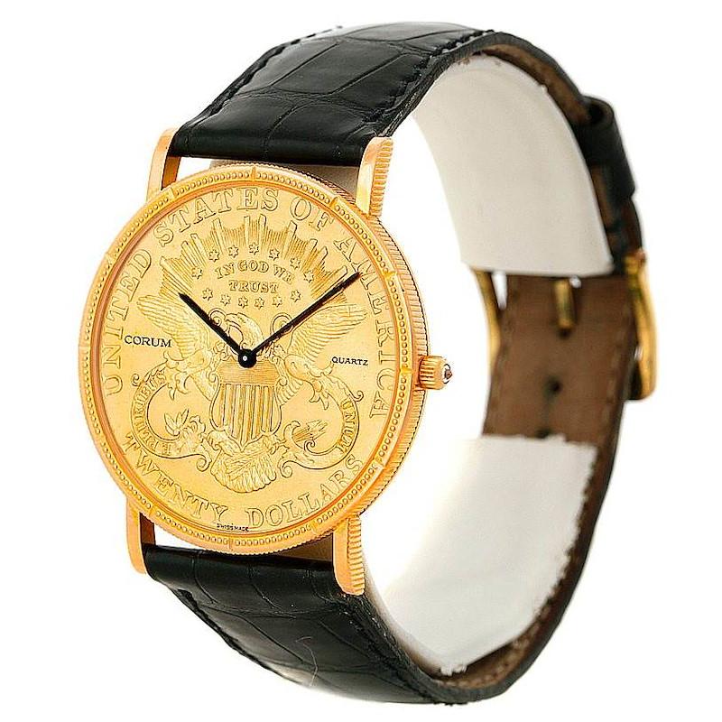 Corum Mens 18/22K Yellow Gold 20 Dollars Coin Watch SwissWatchExpo