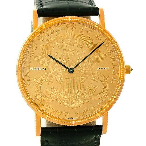 Photo of Corum Mens 18/22K Yellow Gold 20 Dollars Coin Watch