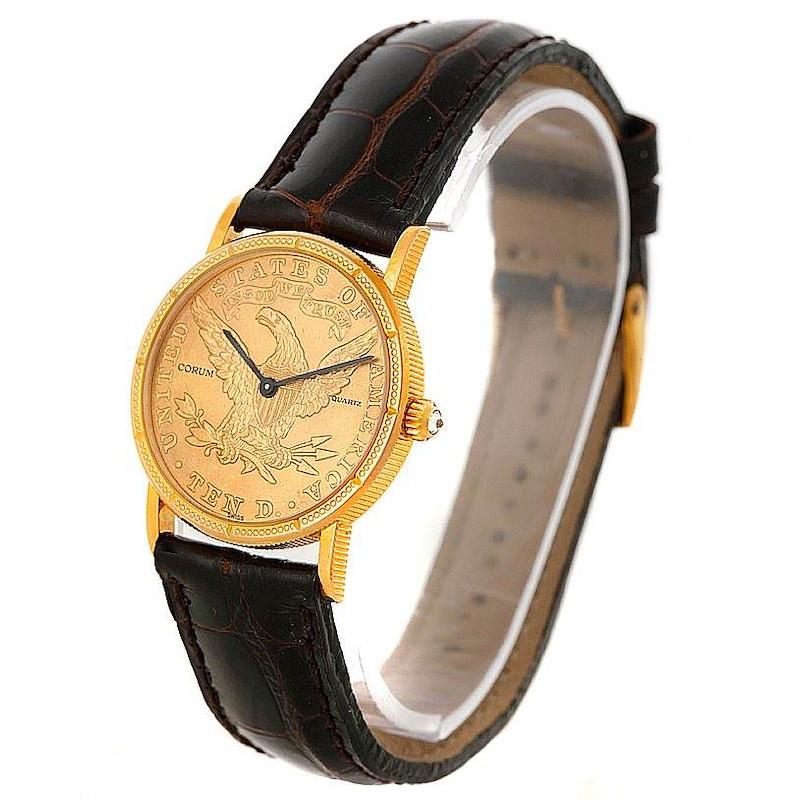 Corum Ladies 18K Yellow Gold 10 Dollars Coin Watch SwissWatchExpo