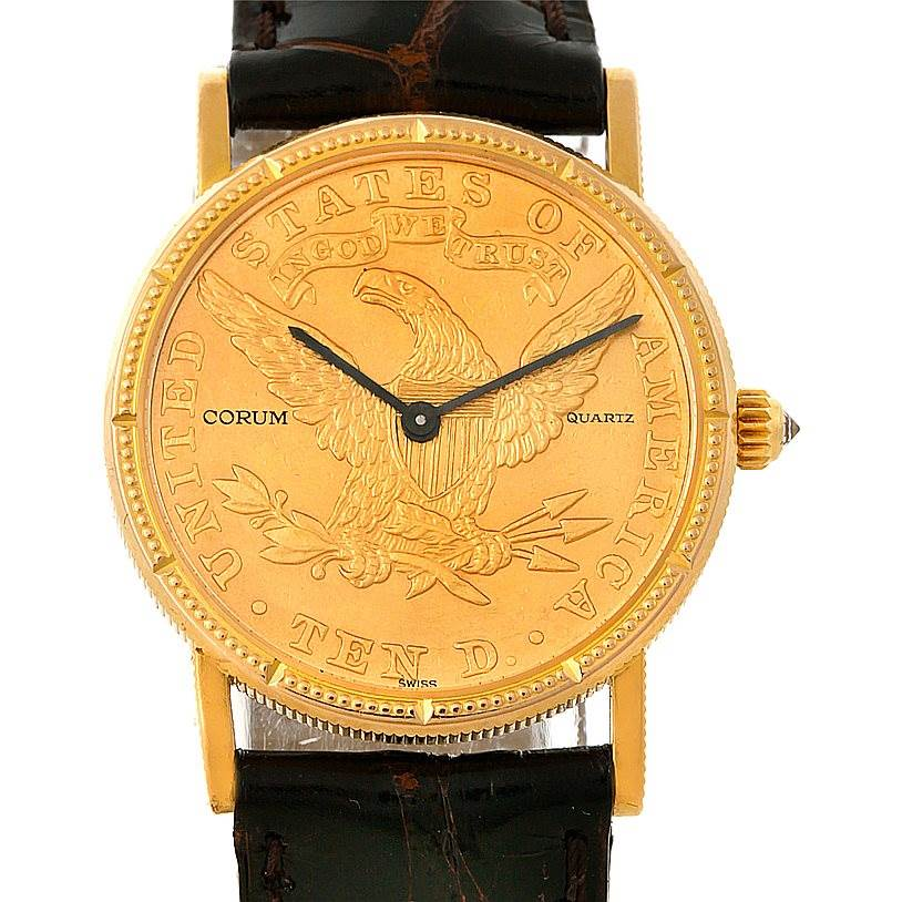 Photo of Corum Ladies 18K Yellow Gold 10 Dollars Coin Watch