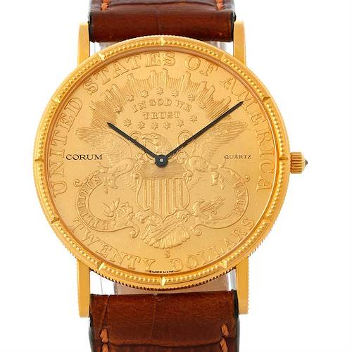 Photo of Corum 18K Yellow Gold 20 Dollars Coin Mens Watch