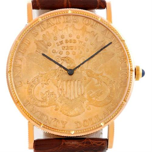 Photo of Corum 18K Yellow Gold 20 Dollars Coin Year 1900 Mens Watch